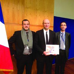 Remise du prix Visa Performande à l'équipe de Guilbert Express