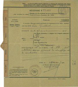 Le premier brevet déposé par Guilbert Express en 1906