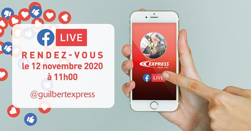 Premier facebook live pour Express jeudi 12 novembre à 11h