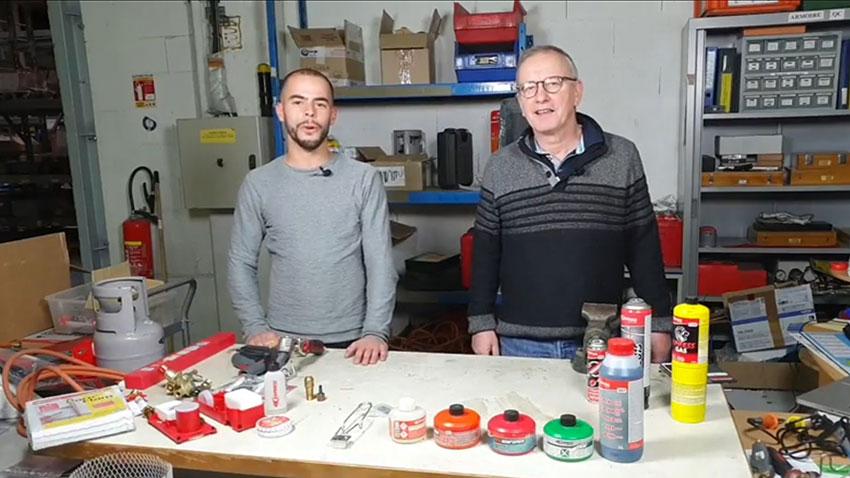 CHristophe Henriques et Frederic Langlois lors du facebook live du 4 décembre consacrée aux accessoires de couverture Express
